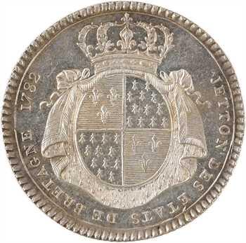 Bretagne (états de), jeton en argent des États de Rennes, 1782 Paris