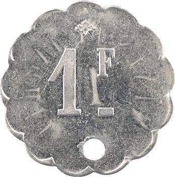 Algérie, les mines de Taghit (Constantine), 1 franc perforé, s.d