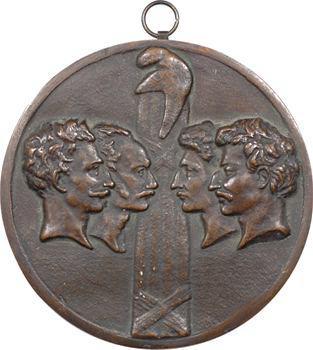 Louis XVIII, les quatre sergents de la Rochelle, par David d'Angers, 1822 (1844) Paris
