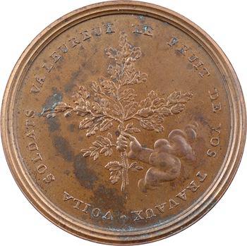 Directoire, Bonaparte, victoires pendant la campagne d'Italie, uniface, 1796