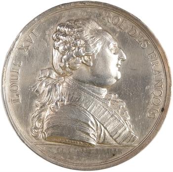 Premier Empire, médaille Louis XVI détournée en médaille de mariage, 1808 Paris
