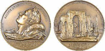 Retour des cendres, lot de deux médailles, refrappes modernes