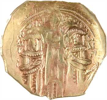 Andronique II et Michel IX, hyperpyron (scyphate), Constantinople, 1295-1320