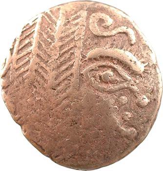 Leuques, statère au cheval tournant la tête, classe I à la palme, II-Ier s. av. J.-C.