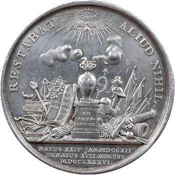 Allemagne, Prusse, Frédéric II le Grand, médaille de son décès, 1786 Berlin