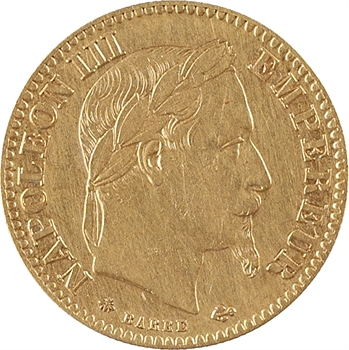 Second Empire, 10 francs tête laurée, 1865 Paris