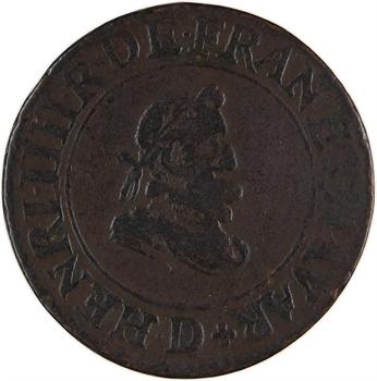 Henri IV, double tournois 1er type, 1607 Lyon