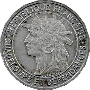 Guadeloupe, pré-série de 1 franc, 20 pans, 1903 Paris