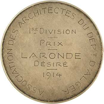Algérie, prix de l'association des architectes à Désiré Laronde, 1914 Paris