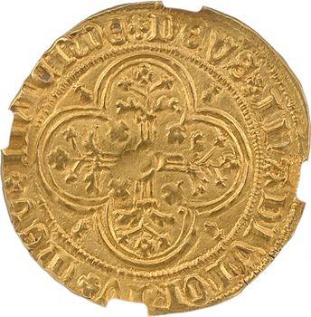 Bretagne (duché de), Jean V, florin d'or au chevalier, 1re émission, s.d. (1420-1423) Nantes, NGC UNC details
