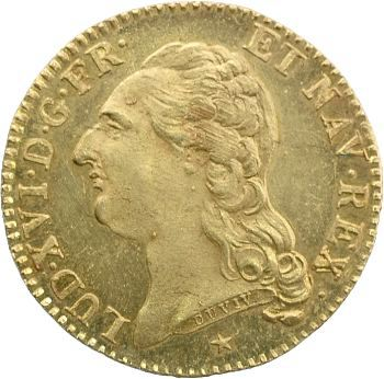 Louis XVI, louis d'or à la tête nue, 1786 Lille