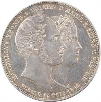 Allemagne, Bavière (royaume de), Louis Ier, double thaler, 1842 Munich