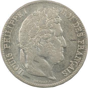 Louis-Philippe Ier, 5 francs IIe type Domard, 1836 Lille