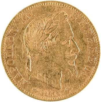 Second Empire, 5 francs tête laurée, 1862 Paris