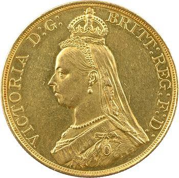 Royaume-Uni, Victoria, 5 livres (pounds), 1887 Londres