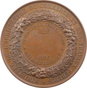 Second Empire, concours universel agricole, prix des animaux reproducteurs, 1856 Paris
