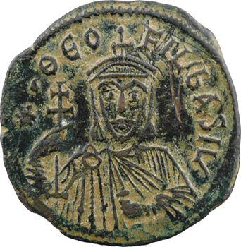 Théophile, follis type 2, Constantinople, 9e officine, c.829-831