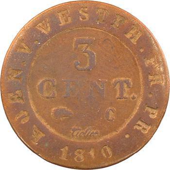 Allemagne, Westphalie (royaume de), Jérôme Napoléon, 3 centimes, 1810 Cassel