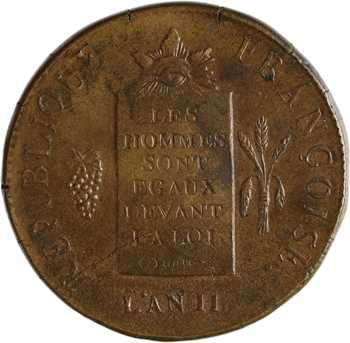 Convention, deux sols aux balances, 1793 Rouen