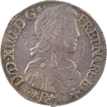 Louis XIV, écu de Béarn à la mèche longue, 1656 Morlaàs