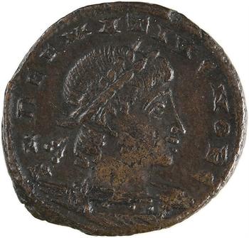 Delmace, nummus, Alexandrie, 3e officine, 335-336
