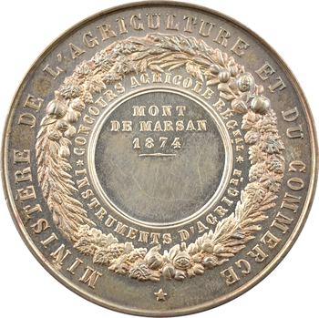 IIIe République, concours agricole de Mont de Marsan, 1874 Paris