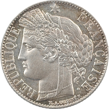 IIIe République, 1 franc Cérès, 1888 Paris