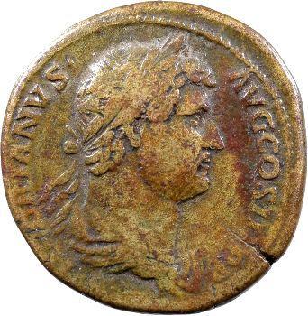 Hadrien, sesterce, Rome, 136