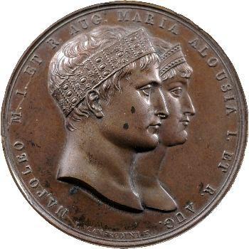 Premier Empire, mariage avec Marie-Louise, par Manfredini, 1810 Milan