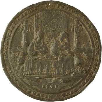Allemagne, Pharaon et Lazare (invasion de grenouilles), fonte ancienne, 1551