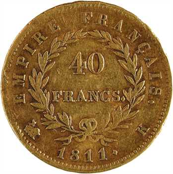 Premier Empire, 40 francs Empire, 1811 Bordeaux
