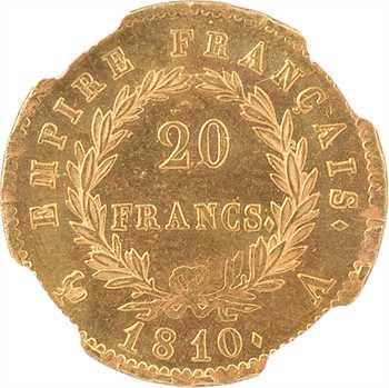 Premier Empire, 20 francs Empire, 1810 Paris, NGC MS62+