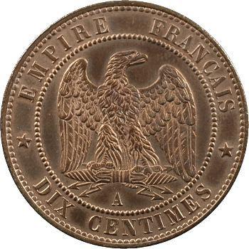 Second Empire, dix centimes tête nue, 1855 Paris