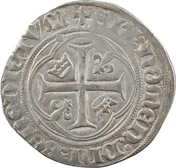 Charles VIII, blanc à la couronne (molettes/points), Châlons-en-Champagne