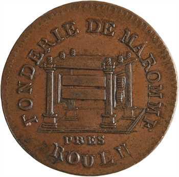 Constitution, essai de flan des fonderies de Maromme, 1790
