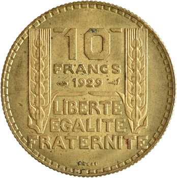 IIIe République, essai de 10 francs Turin, bronze-aluminium, 1929 Paris