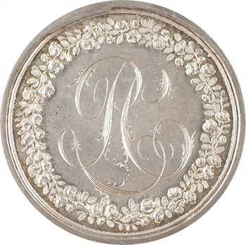 Louis XVIII, la Paix de Lunéville, réemployée en médaille de mariage, 1801-1816 Paris