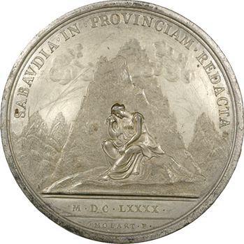 Louis XIV, l'occupation de la Savoie, cliché par Molart, 1690, frappe ancienne