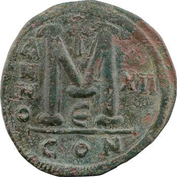 Justinien Ier, follis, Constantinople, 5e officine, An XII = 538-539