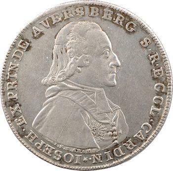 Allemagne, Passau (évêché de), Joseph Franz von Auersperg, thaler de convention, 1792 Munich