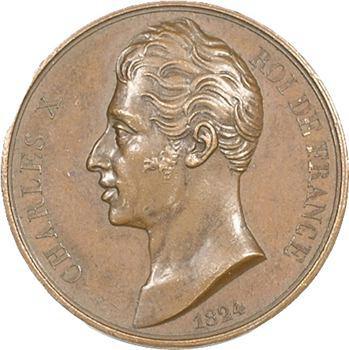 Charles X, félicitations des Halles et Marchés de Paris, 1824 Paris