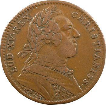 Louis XV, jeton cuivre des colonies françaises de l'Amérique, 1751