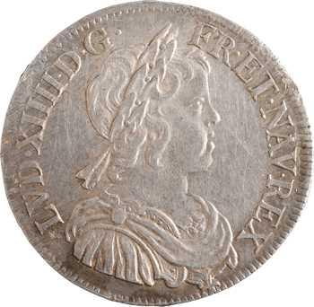 Louis XIV, demi-écu à la mèche courte, 1645 Paris (point)
