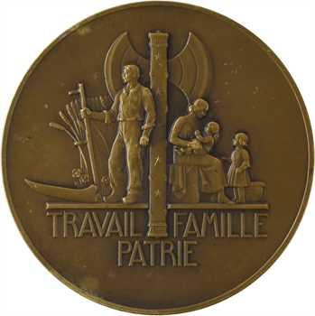 État français, le Maréchal Pétain, par Pierre Turin, moyen module, 1941 Paris