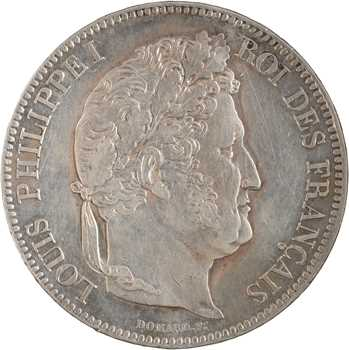 Louis-Philippe Ier, 5 francs IIe type Domard, 1833 Nantes