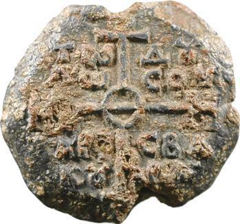 Empire byzantin, bulle en plomb du VIIIe-IXe siècles