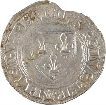 Charles VI, blanc guénar 2e émission, Tournai