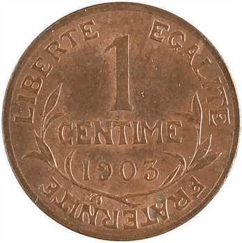 IIIe République, 1 centime Daniel-Dupuis, 1903 Paris