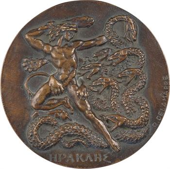 Delamarre (R.) : Héraclès (Hercule combattant les forces du mal), fonte, s.d. (1965) Paris, SFAM N° 49