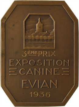Bénard (R.) : la Source d'Évian-Cachat, exposition canine d'Évian, 1936 Paris